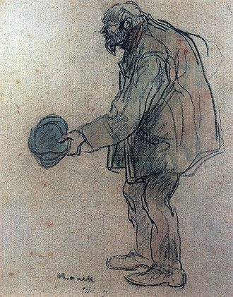Isidre Nonell - Drawing Captaire a París,1897