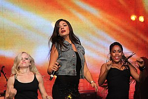 Ivi Adamou - Adamou in the La La Love Tour.