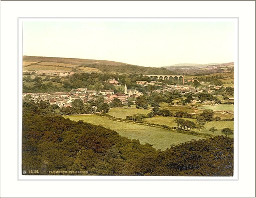 Ivybridge general view Plymouth England