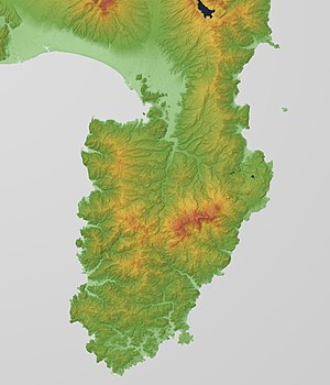 Izu Peninsula - Relief Map