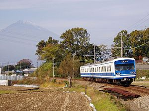 Izuhakone Railway Sunzu Line - 3000 series train on the Izuhakone Sunzu Line