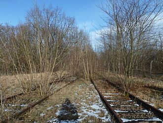 Jüterbog station - Remains of tracks in the station of the Military Railway