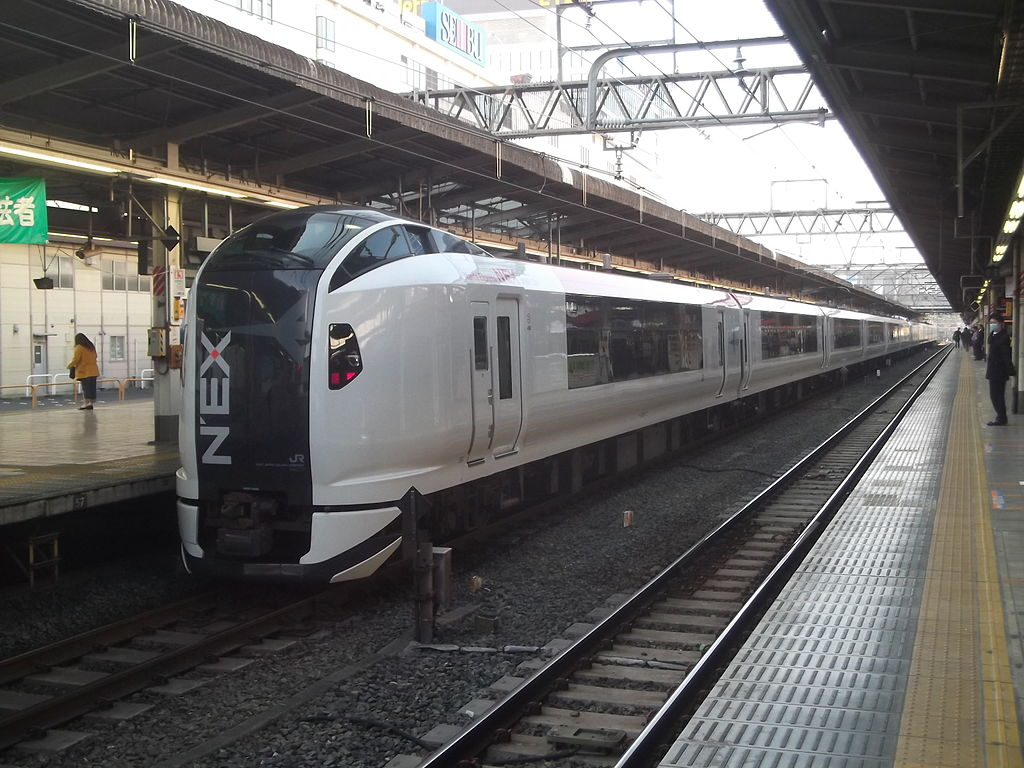 JR East E259 Series Train at Ikebukuro Station