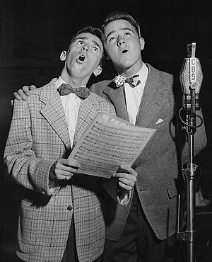 Pinocchio (1940 film) -  Dickie Jones (right) voices Pinocchio in the film.