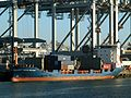Jacob Becker IMO 9122241 loading and unloading in the Amazone harbour Port of Rotterdam 29-Jan-2006.jpg