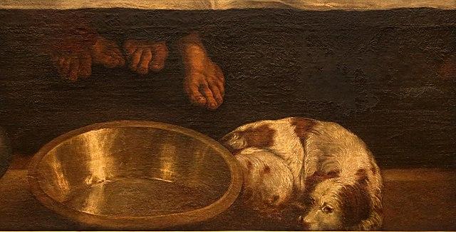 Filejacopo Bassano Ultima Cena 1546 48 Circa 05 Cane E Bacinella