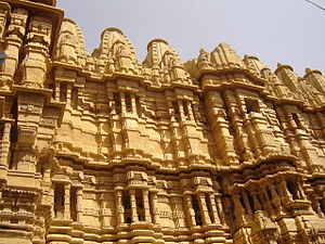 Jain temple at jaisalmer fort.JPG