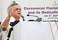 Jairam Ramesh addressing at the Ceremonial Plantation at Jaunapur and its Dedication to the Nation, on the occasion of World Environment Day, in New Delhi on June 03, 2011.jpg