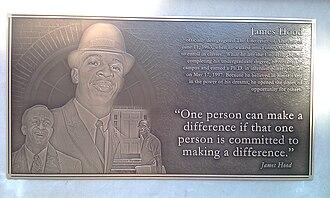 James Hood - Plaque commemorating Hood at the University of Alabama in Tuscaloosa, Alabama