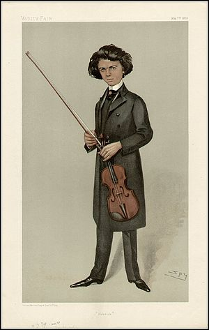 Jan Kubelík - Kubelik caricatured by Spy for Vanity Fair, 1903