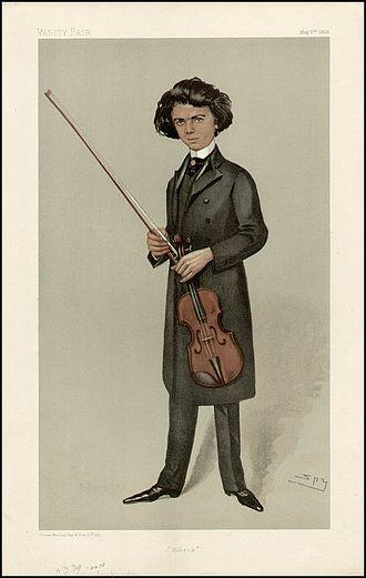 Jan Kubelík - Kubelik caricatured by Spy for Vanity Fair, 1903