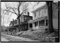 January 1975 GENERAL VIEW OF 200 ELEVENTH STREET BLOCK - Starr Historic District, Richmond, Wayne County, IN HABS IND,89-RICH,7-2.tif