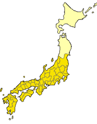 The Japanese provinces in 701