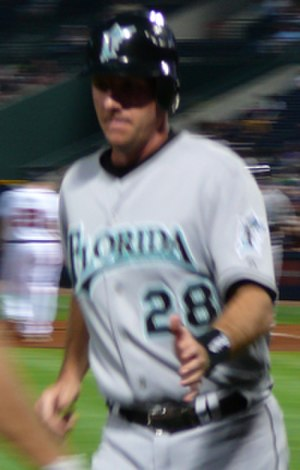 Jason Wood (baseball) - Wood, playing for the Marlins in June 2007