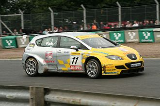 Jason Plato - Plato driving for SEAT at the Oulton Park round of the 2007 British Touring Car Championship.