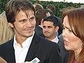 Jason Ritter and Laura Innes 2010.jpg