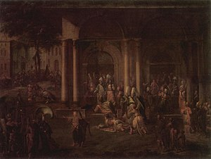 Patrona Halil - Events of the Patrona Halil rebellion; painting by Jean-Baptiste van Mour