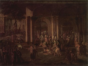 """""""The Assassination of the Ministers during the Khalil Patrona's Uprising"""" by Jean-Baptiste van Mour"""