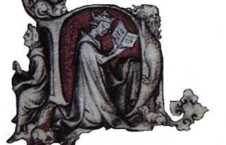 Hours of Jeanne d'Evreux - Donor portrait of Jeanne d'Evreux; detail of the Annunciation miniature