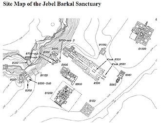 Jebel Barkal - Image: Jebel Barkal Ground Plan