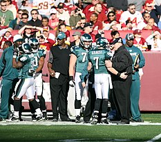 3110af3f Andy Reid speaks with Jeff Garcia in a game against the Redskins.