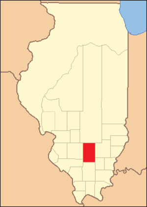 Jefferson County, Illinois - Image: Jefferson County Illinois 1821