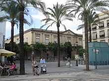 Sede del juicio enJerez de la Frontera, actual colegio Cervantes.