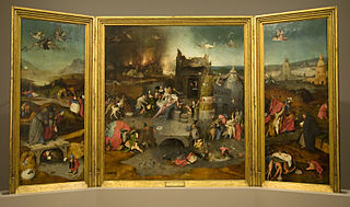 <i>Triptych of the Temptation of St. Anthony</i> triptych by Hieronymus Bosch, Lisbon