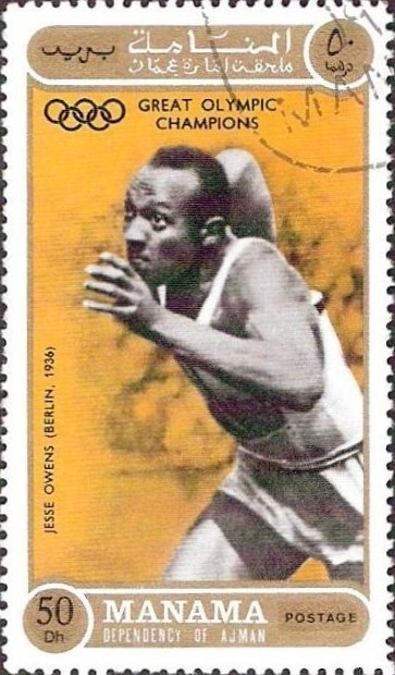 Jesse Owens 1971 Ajman stamp