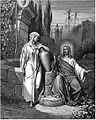 Jesus asks the Samaritan woman for a draft from the well.jpg