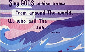 Uriah P. Levy - Wall-hanging in Commodore Levy Chapel, Naval Station Norfolk