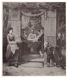 Jewish Family in a Sukkah