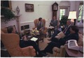 Jimmy Carter meeting with James McIntyre, Stuart Eizenstat, James Schlesinger and Frank Moore. - NARA - 179344.tif