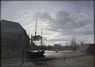Copenhagen Harbour by Moonlight