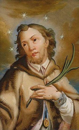 John of Nepomuk - Image: Johannes von Nepomuk Hinterglasbild