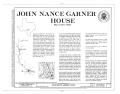 John Nance Garner House, Camp Wood, Real County, TX HABS TEX,193-CAMP.V,1- (sheet 1 of 11).png