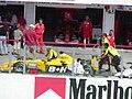 Jordan pushed in pits at the 2003 Hungarian Grand Prix.jpg