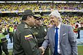 José Néstor Pékerman and Police at Colombia vs Uruguay match for Russia 2018.jpg