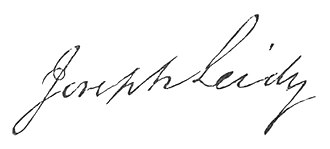 Joseph Leidy - Image: Joseph Leidy signature