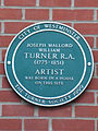 Joseph Mallord William Turner RA plaque.JPG