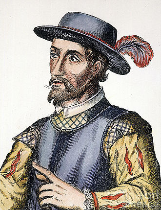 Juan Ponce de León - 17th century engraving of Ponce de León (unauthenticated)