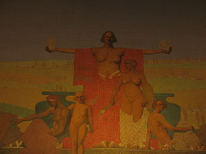 Jules Guérin (artist) - Image: Jules Guerin mural in Louisiana State Capitol