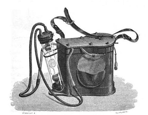 "Jules Verne's ""Ruhmkorff lamp"", a miners' electric lamp"
