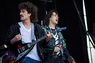 """The Voidz - With the Voidz Jeramy """"Beardo"""" Gritter (formerly of Whitestarr) at Lollapalooza Chile, 2014"""