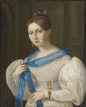 France Prešeren - Prešeren's muse, Julija Primic, in a portrait by Matevž Langus