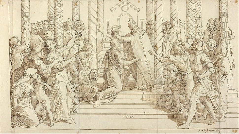 Julius Schnorr von Carolsfeld (German - The Coronation of Charlemagne - Google Art Project