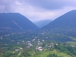 Sukhumi District - Kamani village and surrounding mountains