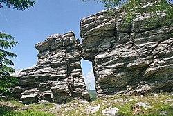 Pohled na Kamenná vrata