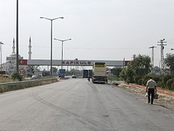 Border crossing on the Turkish side