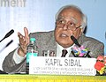 Kapil Sibal addressing the Round Table Conference to discuss the National Vocational Education Qualification Framework with the Media and Entertainment Industry organized by AICTE.jpg